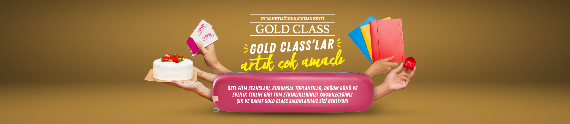 Gold Class'lar artık çok amaçlı!